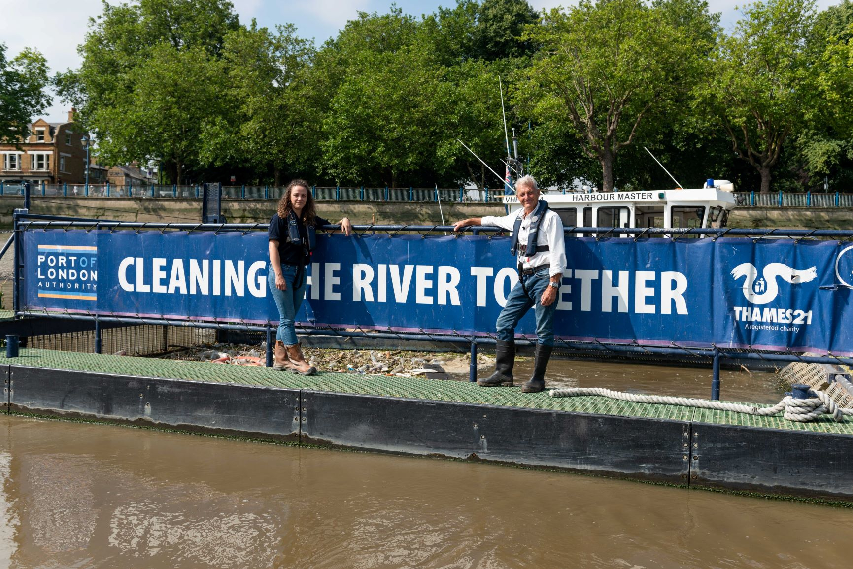 Rose's return: explorer back on river for update on Cleaner Thames campaign