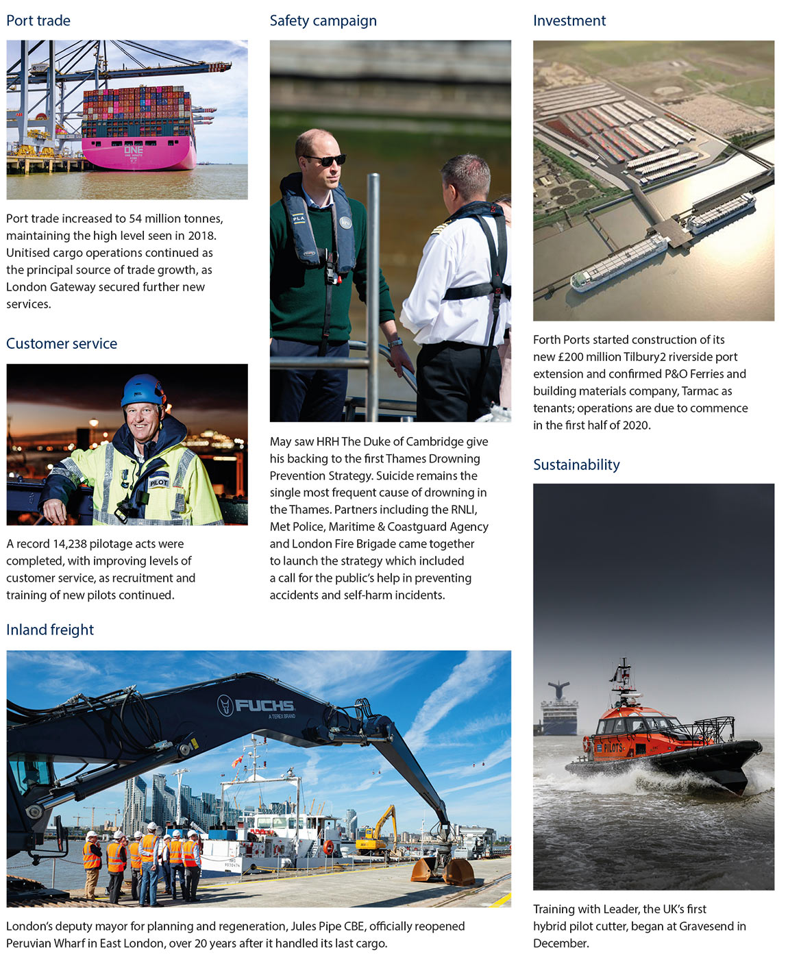 Key 2019 highlights: Our saftey campaign, improved customer service, growing trade and investments
