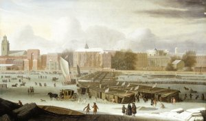 The Frost Fair of 1684 (click on image to enlarge) image (c) Msuem of London