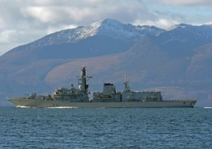 HMS Sutherland in home waters off Scotland's west coast
