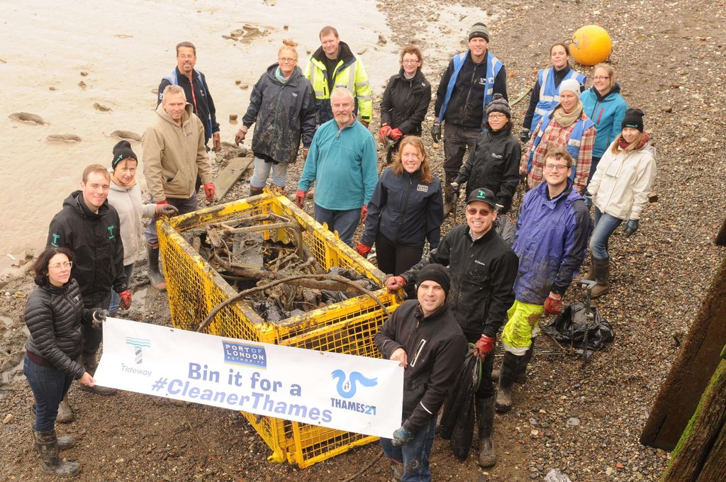 Cleaner Thames partners take on Thames clean up at Woolwich Arsenal