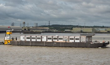 Thames Tideway Tunnel project offices barged along river by LCL